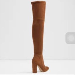 Aldo brown over the knee boots